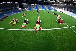 ASTANA, KAZAKHSTAN - Friday, September 15, 2017: Wales players training at the Astana Arena ahead of the FIFA Women's World Cup 2019 Qualifying Round Group 1 match against Kazakhstan. (Pic by David Rawcliffe/Propaganda)