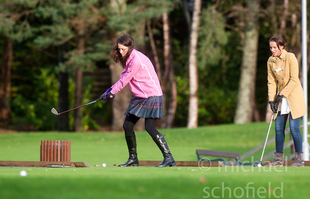 Miss Scotland Jennifer Reochs..The Miss World participants play golf at the world famous Gleneagles Hotel, host of The Ryder Cup 2014..MISS WORLD 2011 VISITS SCOTLAND..Pic © Michael Schofield.
