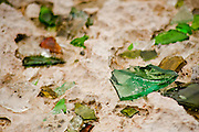 Sea glass in sand, Baby Beach, Aruba