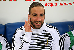 May 9, 2018 - Rome, Lazio, Italy - Gonzalo Higuain (Juventus FC) before the Italian Cup final match between Juventus FC and AC Milan at Stadio Olimpico on May 09, 2018 in Rome, Italy. .Juventus won 4-0 over Milan. (Credit Image: © Massimiliano Ferraro/NurPhoto via ZUMA Press)