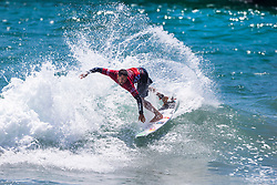 Adriano de Souza (BRA) advances to Round 3 of the 2018 VANS US Open of Surfing after placing second in Heat 4 of Round 2 at Huntington Beach, California, USA.