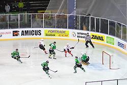 View on the rink during ice hockey match between HDD Telemach Olimpija and HDD SIJ Acroni Jesenice at Winter Classic of HDD Telemach Olimpija called Pivovarna Union Ice Fest 2014, on December 18, 2014 on Republic Square, Ljubljana, Slovenia. (Photo By Matic Klansek Velej / Sportida.com)