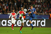 PAULO DYBALA of Juventus duels for the ball with FABINHO of Monaco during the UEFA Champions League semi final football match, 1st leg, between AS Monaco and Juventus FC on May 3rd, 2017 at Louis II Stadium in Monaco - Photo Manuel Blondeau / AOP Press /