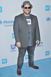 Josh Gad arrives at We Day California 2017 held at The Forum in Inglewood, CA on Thursday, April 27, 2017. (Photo By Sthanlee B. Mirador) *** Please Use Credit from Credit Field ***