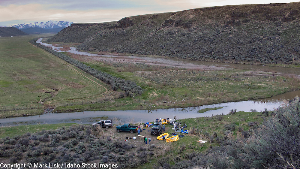 Launching on the South Fork of the Owyhee River from the YP Ranch.