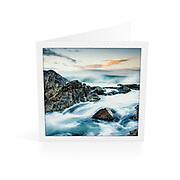 Photo Art Greeting Card | South West Rocks Collection | Dusk at Horseshoe Bay | Printed on lightly textured matte art paper stock, blank inside. White envelope included, packaged in sealed poly bag. Dimensions: Card 123 x 123mm. Envelope 130 x 130mm.<br />