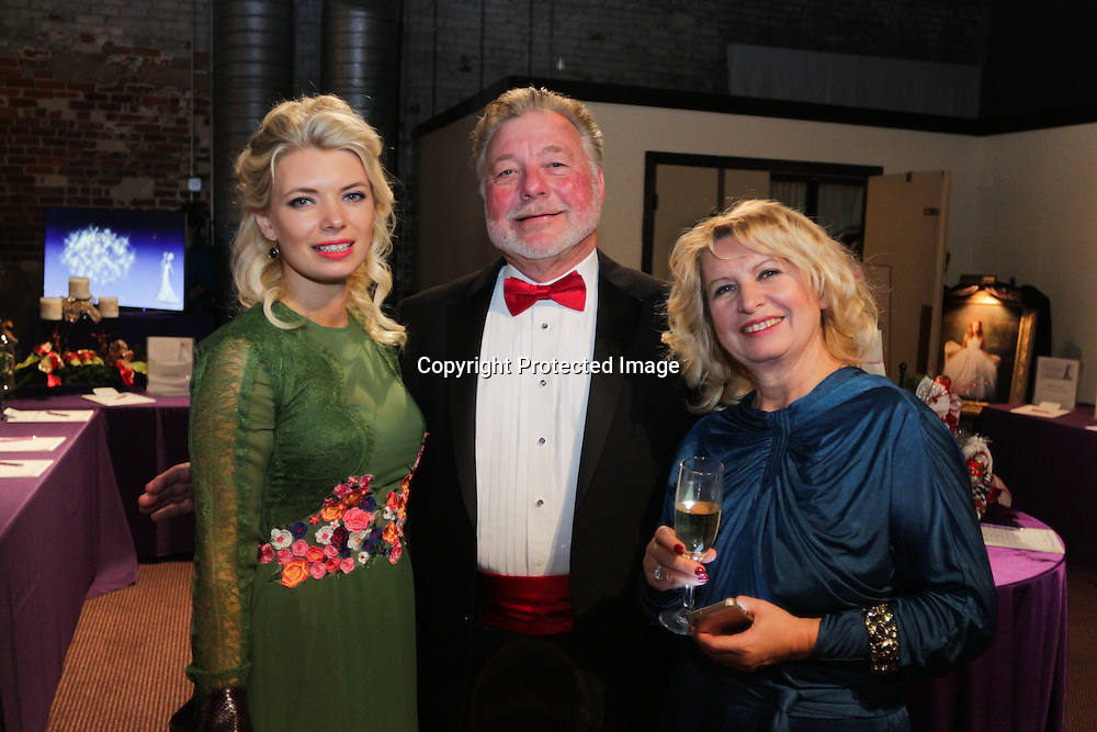 Victoria Bollinger, left, Tim Baker, center, and Antonia Nikifora pose for a picture during the Diamonds and Champagne Hope Ball Saturday November 22, 2014 at the Coastline Convention Center in Wilmington, N.C. (Jason A. Frizzelle)