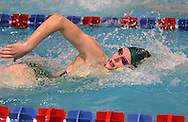 Cedar Rapids Kennedy's Jessica Schmeiser comes up for air in the 100 yard freestyle event during the MVC Girls Swimming Championships at Washington High School in Cedar Rapids on Saturday October 13, 2012. Schmeiser placed third in the event with a time of 56.34.