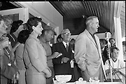 Bing Crosby was a regular visitor to Ireland. An avid golfer, he is pictured here at a charity golf tournament at Woodbrook, Co. Wicklow.<br /> 15.09.1961