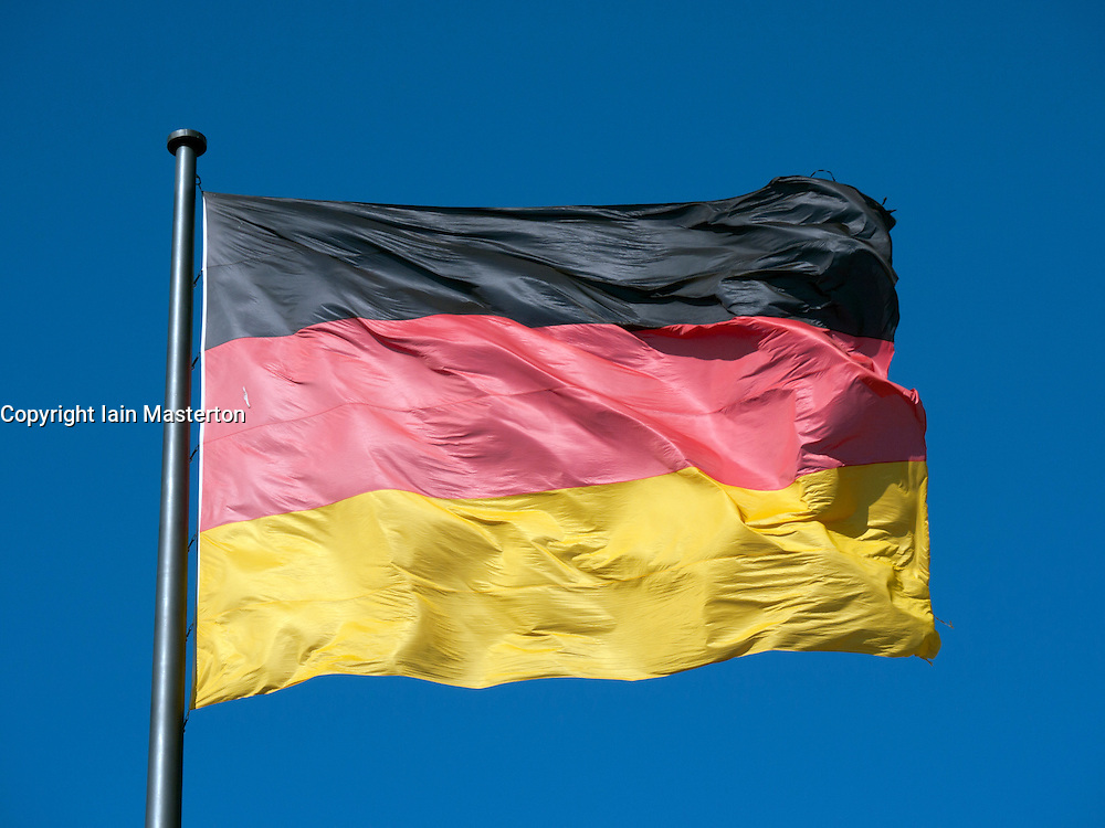 Close-up view of German flag