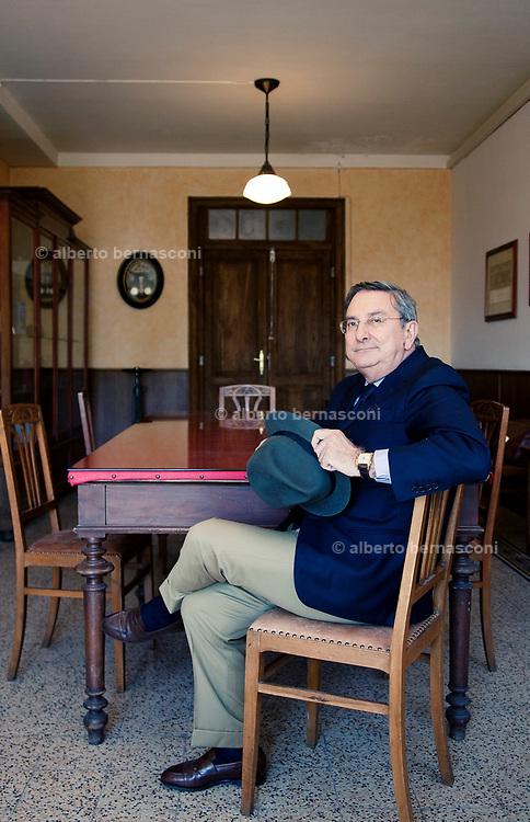 Biella, Italy, BARBISIO, handmade hat manufacture. Giorgio Borrione, AD Cappellificio Cervo.
