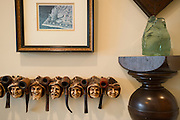 Artwork and pipes on display at the home of Kyle and Anne Crews in the Tower Residences at the Ritz-Carlton in Dallas on Wednesday, April 17, 2013. (Cooper Neill/The Dallas Morning News)
