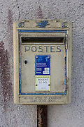 Postal box in rural village of Neron, Eure-et-Loir, France.