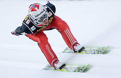 Simon Ammann of Switzerland competes during Trial round of the FIS Ski Jumping World Cup event of the 58th Four Hills ski jumping tournament, on January 5, 2010 in Bischofshofen, Austria. (Photo by Vid Ponikvar / Sportida)