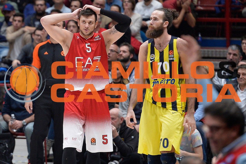 Gentile Alessandro<br /> Olimpia EA7 Emporio Armani Milano vs FENERBAHCE ISTANBUL<br /> Euroleague 2016/2017<br /> Milano 24/11/2016<br /> Foto Ciamillo-Castoria