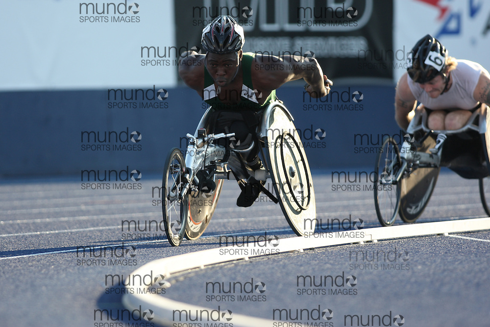 (Toronto, Ontario---26/06/09)  \\ 1500m wheelchair final at the 2009 Canadian National Track and field Championships. Photograph copyright Sean Burges / Mundo Sport Images, 2009. www.mundosportimages.com / www.msievents.