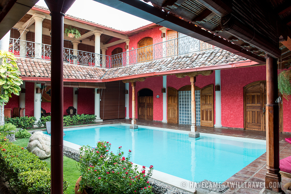 The courtyard of the Hotel Casa del Consulado, a boutique hotel in the heart of historic Granada, Nicaragua.