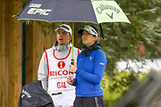 Sandra Gal in the rain during the Ricoh Women's British Open at Royal Lytham and St Annes Golf Club, Lytham Saint Annes, United Kingdom on 2 August 2018. Picture by Simon Davies.