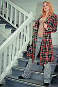 2012 Red Plaid Overcoat - Jessie James Hollywood