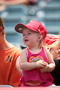 ANAHEIM, CA - JULY 20:  A young fan looks on with amazement during the Los Angeles Angels of Anaheim game against the Seattle Mariners at Angel Stadium on Sunday, July 20, 2014 in Anaheim, California. The Angels won the game 6-5. (Photo by Paul Spinelli/MLB Photos via Getty Images)