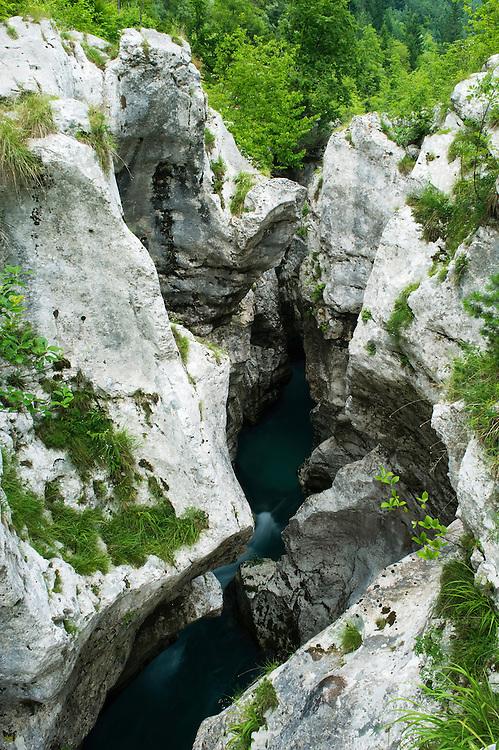 River Soca (&quot;Velika korita&quot;, &quot;Grand Canyon&quot;)<br /> Triglav National Park, Slovenia<br /> July 2009