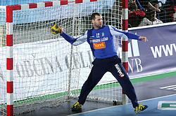 Goalkeeper of Celje Beno Lapajne  during the 1st Main round of EHL Champions League match between RK Celje Pivovarna Lasko (SLO) and Rhein Neckar Lowen (GER), on February 14, 2009, in Arena Zlatorog, Celje, Slovenia. Rhein Neckar Lowen won 34:28.  (Photo by Vid Ponikvar / Sportida)
