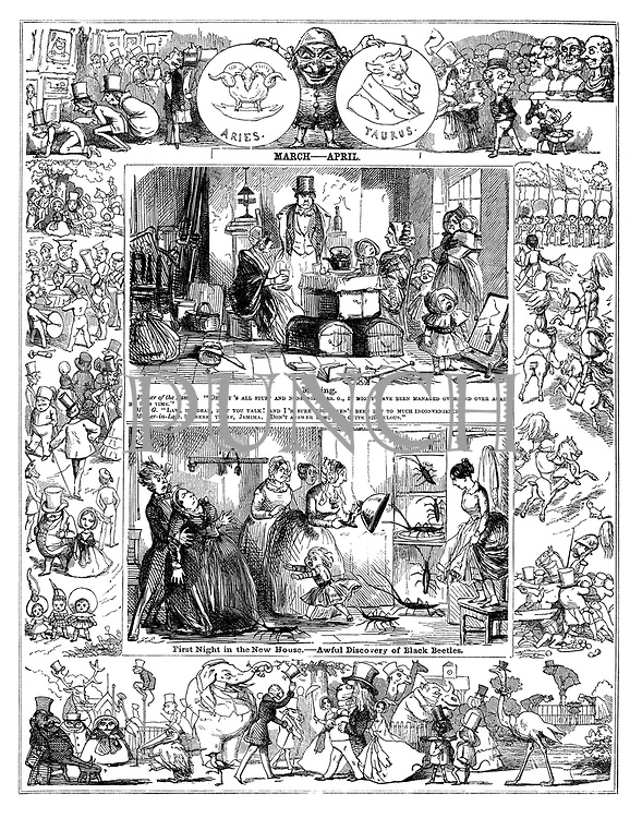Punch Almanack 1848 March - April