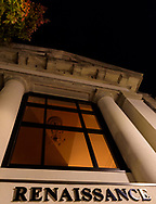 Night shot of the Renaissance building in Uptown Greenville, NC