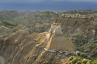 Badlands formations, Makoshika State Park Montana