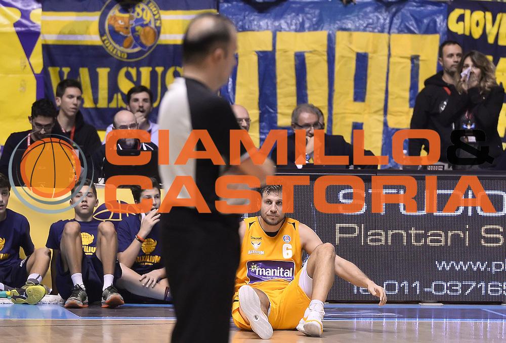 DESCRIZIONE : Torino Auxilium Manital Torino Giorgio Tesi Group Pistoia<br /> GIOCATORE : Stefano Mancinelli<br /> CATEGORIA : delusione<br /> SQUADRA : Manital Auxilium Torino<br /> EVENTO : Campionato Lega A 2015-2016<br /> GARA : Auxilium Manital Torino Giorgio Tesi Group Pistoia<br /> DATA : 07/12/2015 <br /> SPORT : Pallacanestro <br /> AUTORE : Agenzia Ciamillo-Castoria/R.Morgano<br /> Galleria : Lega Basket A 2015-2016<br /> Fotonotizia : Torino Auxilium Manital Torino Giorgio Tesi Group Pistoia<br /> Predefinita :