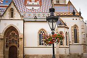 Saint Mark's Church in old town Gradec, Zagreb, Croatia