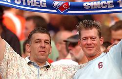 01-06-2003 NED: Amstelcup finale FC Utrecht - Feyenoord, Rotterdam<br /> FC Utrecht pakt de beker door Feyenoord met 4-1 te verslaan / Support, Publiek, Edwin