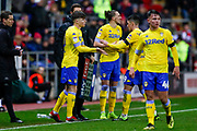 Leeds United defender Leif Davis (40) comes off the bench  during the EFL Sky Bet Championship match between Rotherham United and Leeds United at the AESSEAL New York Stadium, Rotherham, England on 26 January 2019.