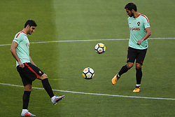 October 8, 2017 - Lisboa, Portugal - Portugueses forward Goncalo Guedes and midfielder Andre Gomes during National Team Training session before the match between Portugal and Switzerland at Luz Stadium in Lisbon on October 8, 2017. ....(Photo by Luis Moreira/NurPhoto) (Credit Image: © Filipe Amorim/NurPhoto via ZUMA Press)