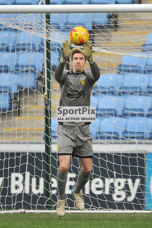 JON McLAUGHLIN GOALKEEPER BURTON ALBION, Coventry City v Burton Albion, Ricoh Arena,  Sky Bet League 1, Saturday 16th JJanuary 2016