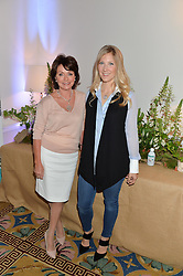 Left to right, ZITA WEST and LEO BAMFORD at a breakfast hosted by Zita West and Leo Bamford to launch a range of vitamins for babies & children held at the Royal Society of Medicine, Chandos House, 2 Queen Anne Street, London on 21st May 2015.
