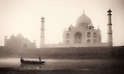 Boatmen by the Taj Mahal, India