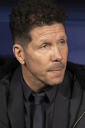 February 21, 2019 - Madrid, Madrid, Spain - Diego Pablo Simeone, Manager of Atletico de Madrid  during the UEFA Champions League Round of 16 First Leg match between Club Atletico de Madrid and Juventus at Estadio Wanda Metropolitano on February 20, 2019 in Madrid, Spain Photo: Oscar Gonzalez/NurPhoto  (Credit Image: © Oscar Gonzalez/NurPhoto via ZUMA Press)