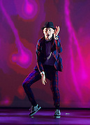 BBC Young Dancer 2015 <br /> at Sadler's Wells, London, Great Britain <br /> 8th May 2015 <br /> <br /> Grand Final <br /> TX Saturday 7pm on 9th May 2015 <br /> <br /> <br /> <br /> Harry Barnes - Hip Hop <br /> <br /> Photograph by Elliott Franks <br /> Image licensed to Elliott Franks Photography Services
