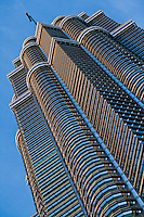 Extreme views of the  spectacular Petronas Twin Towers.