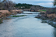 Musselshell River, east of Roundup, Montana, dusk