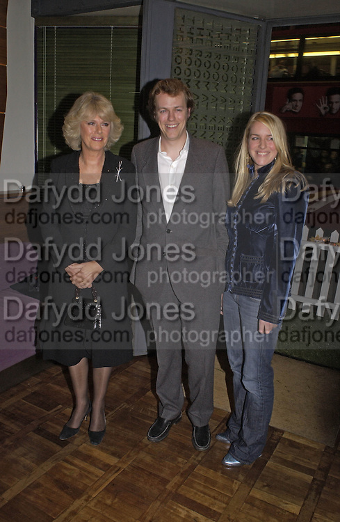 Camilla Parker Bowles, Tom Parker Bowles and Laura Parker Bowles, Tom Parker Bowles, Susan Hill and Matthew Rice host party to launch 'E is For Eating' Kensington Place. 3 November 2004.  ONE TIME USE ONLY - DO NOT ARCHIVE  © Copyright Photograph by Dafydd Jones 66 Stockwell Park Rd. London SW9 0DA Tel 020 7733 0108 www.dafjones.com