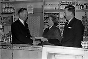 15/01/1963<br /> 01/15/1963<br /> 15 January 1963<br /> Mr E. Buckley, Grocer receives Bisto Award.<br /> Presentation of cheque to E. Buckley, Orchard Road, Dublin by Mr P.A. Ryan, Sales Manager, Cerebos (Ireland) Ltd. at Orchard Road. Included is Mr. J.J. McKinney, Sales Representative, Cerebos.