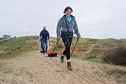 Mathilde in training for the Camino 2020 at the Soesterduinen on March 08, 2020 in Soest, Netherlands