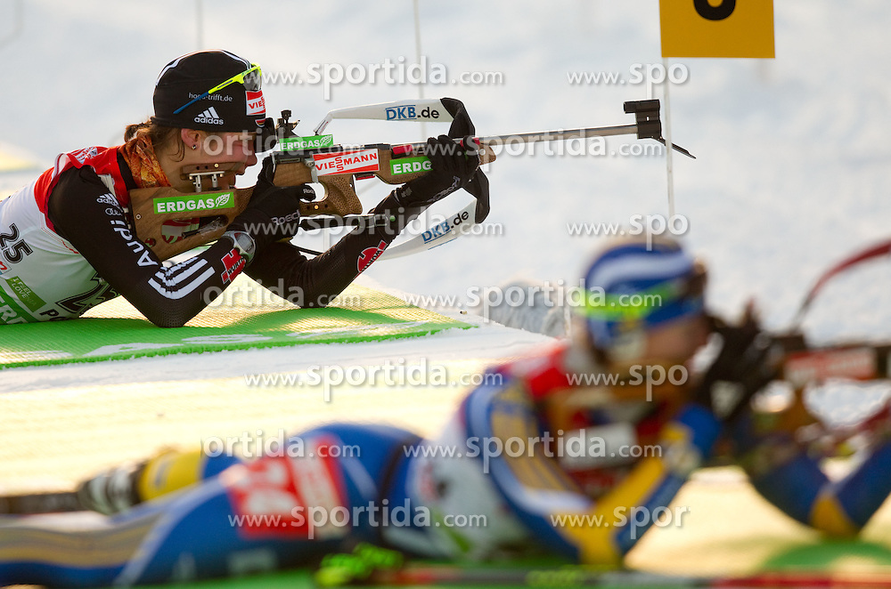 Tina Bachmann of Germany during the Women 7,5 km Sprint of the e.on IBU Biathlon World Cup on Saturday, December 18, 2010 in Pokljuka, Slovenia. The fourth e.on IBU World Cup stage is taking place in Rudno polje - Pokljuka, Slovenia until Sunday December 19, 2010. (Photo By Vid Ponikvar / Sportida.com)