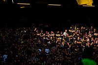 2019-09-01 | Solna, Sweden: AIK Supporters during the game between AIK and Djurgårdens IF at Friends Arena ( Photo by: Simon Holmgren | Swe Press Photo )<br /> <br /> Keywords: Friends Arena, Solna, Soccer, Allsvenskan, AIK, Djurgårdens IF