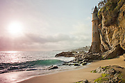 Victoria Beach Sunburst In Laguna Beach California Stock Photos