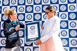 October 1, 2018 - Nazare, Portugal - The World Surf League (WSL) proudly announced that MAYA GABEIRA (BRA) has claimed the inaugural Women's XXL Biggest Wave Award and set a new Guinness World Records title for the Largest wave surfed unlimited (female). The 31-year old from Rio de Janeiro, Brasil successfully surfed a wave measuring 68 feet / 20.72 metres from trough to crest at the infamous big-wave break known as Praia do Norte in Nazare, Portugal on January 18, 2018. Gabeira's incredible feat did not come without its challenges. In 2013, Gabeira suffered a serious injury at Nazare, but her unwavering determination brought her back to the monstrous and dangerous wave to not only surf again, but set the women's world record. (Credit Image: ? WSL via ZUMA Wire/ZUMAPRESS.com)