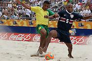 Footbal-FIFA Beach Soccer World Cup 2006 -BRA x USA -Benjamim and Astorga- Rio de Janeiro, Brazil - 07/11/2006.<br />Mandatory Credit: FIFA/Ricardo Ayres