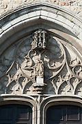 Südportal Stiftskirche St. Waltrudis, Mons, Hennegau, Wallonie, Belgien, Europa | abbey church Saint Waltrude, Mons, Hennegau, Wallonie, Belgium, Europe